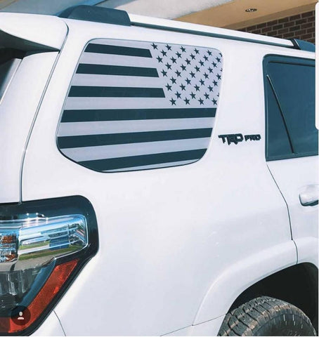 4Runner 5TH GEN American flag decal in gray - OGRAPHICS