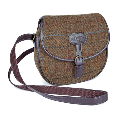 ZB052 Elise British Tweed Saddle Bag