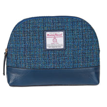 Load image into Gallery viewer, ZB074 Freya Harris Tweed/Leather Cosmetic Bag