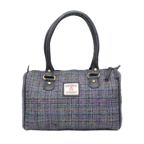 ZB076 Elsa Harris Tweed/Leather Bowling Bag