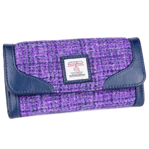 ZB078 Evie Harris/ Leather Tweed Purse