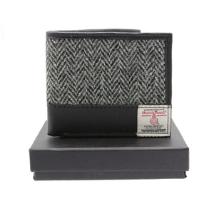 ZB080 Callum Harris Tweed/Leather Wallet