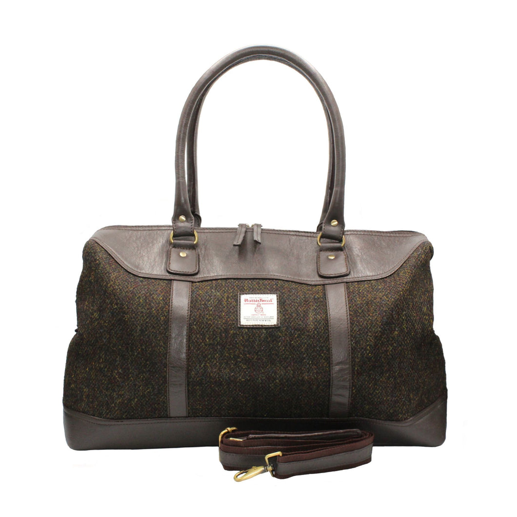 ZB081 Brodie Harris Tweed/Leather Travel Bag