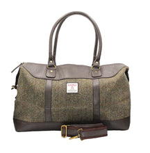 Load image into Gallery viewer, ZB081 Brodie Harris Tweed/Leather Travel Bag