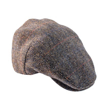 Load image into Gallery viewer, ZH014 Highland Harris Tweed Flat Cap