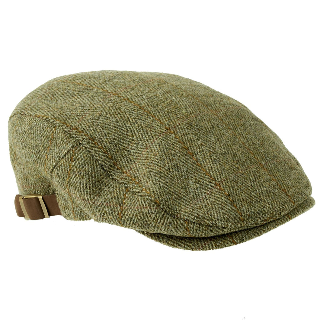 ZH023 Graywood Adjustable Derby Tweed Cap