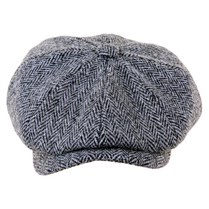 ZH028 Scott Newsboy Harris Tweed 8 Piece Cap