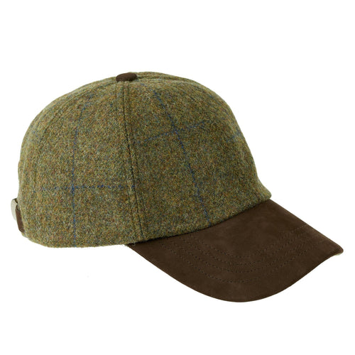 ZH101 Tyndrum British Tweed/Leather Peak Baseball Cap