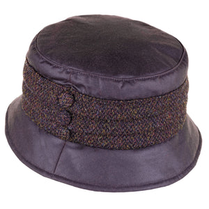 ZH177 Amy Wax/Harris Tweed Pleat Hat