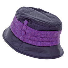 Load image into Gallery viewer, ZH178 Emma Wax/Tweed Pleat Hat