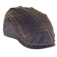 Load image into Gallery viewer, ZH183 Charles Tartan Wax Flat Cap
