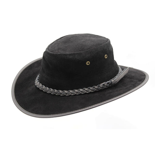 ZH245 Mitch Suede Leather Outback Hat