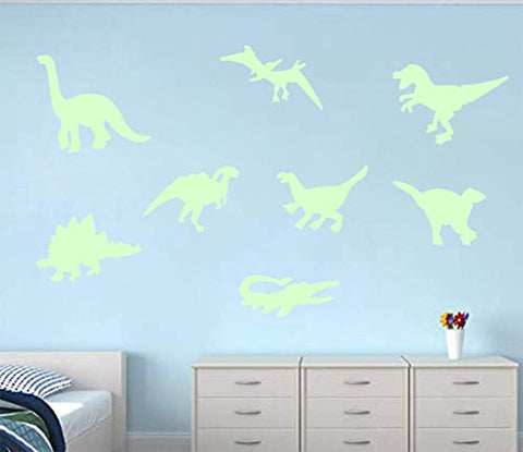 45 pcs Dinosaurs Luminous Wall Stickers,3D Glow in Dark Dinosaurs Wall Decorative for Baby Children Room Wall Decals