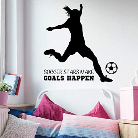 Girls Soccer Quote Wall Decor