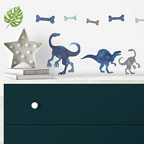 RoomMates Watercolor Dinosaur Peel And Stick Wall Decals