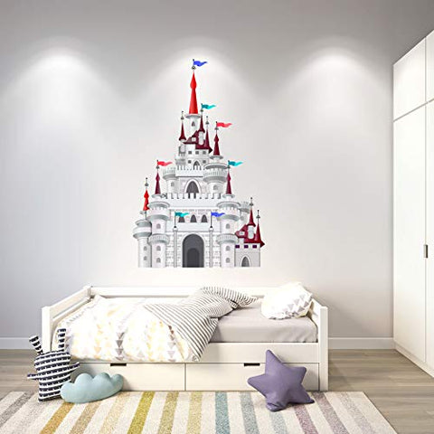 Personalized Wall Decal - Cartoon Castle Wall Sticker for Boys Girls Room - Nursery Decor Design 1