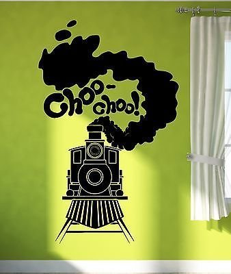 V-studios Wall Sticker Vinyl Decal Train Railway Steam Locomotive for Kids Room VS1900