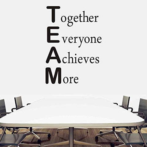 FlyWallD Classroom Wall Decals Office Motivational Wall Decor Vinyl Art Inspirational Quotes Stickers Together Everyone Achieves More