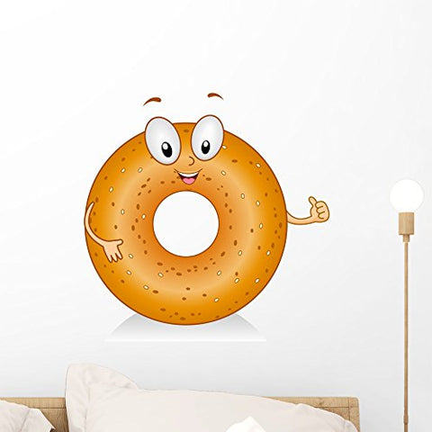 Wallmonkeys Bagel Gesture Wall Decal Peel and Stick Graphic WM244737 (18 in H x 18 in W)