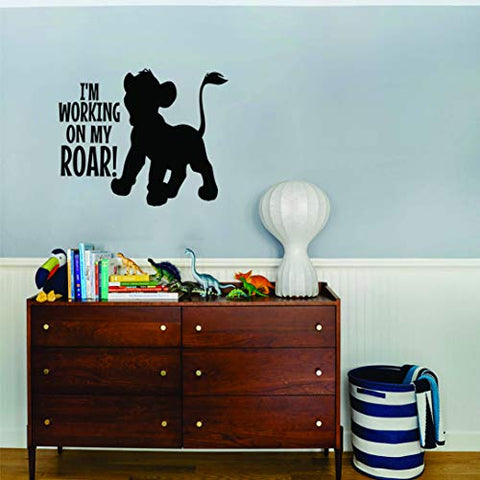 The Lion King Wall Decals for Kids Rooms Simba Mufasa Designs Decor Lions Boys Boy Childrens Creative Animated Vinyl Decal Removable Stickers for Bedrooms Artwork Creative Look Size 20x20 inch