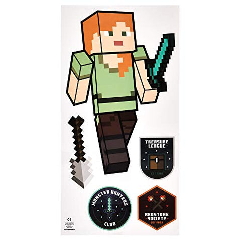 Paladone Minecraft Wall Decals, Reusable Vinyl Sticker Clings