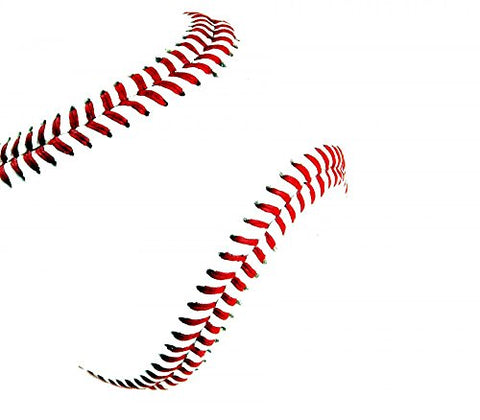 Wallmonkeys Baseball Stitches Wall Decal Peel and Stick Graphic (18 in W x 16 in H) WM367611