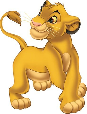 5 Inch Simba Cub Disney The Lion King Movie Animal Removable Peel Self Stick Adhesive Vinyl Decorative Wall Decal Sticker Art Kids Room Home Decor Girl Boy Children Bedroom 4 x 5 1/4 inch Tall