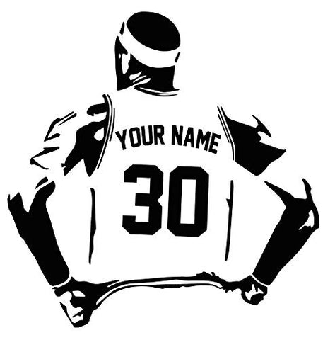 "Personalized Custom Basketball Player Wall Decal - Choose Your Name & Numbers Custom Player Jerseys Vinyl Decal Sticker Decor Kids Bedroom (29"" W x 30"" T)"