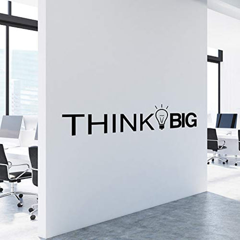 My Vinyl Story Think Big Office Decor Wall Art Wall Decal Inspirational Motivational Vinyl Office Supplies Home Gym Work Success Wall Sticker Teamwork Welcome Quote Business Sign Gift Large