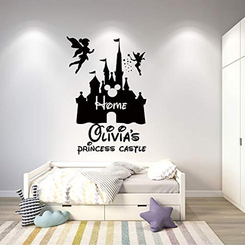Personalized Wall Decal - Cartoon Castle Wall Sticker for Boys Girls Room - Nursery Decor Design 5