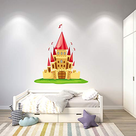 Personalized Wall Decal - Cartoon Castle Wall Sticker for Boys Girls Room - Nursery Decor Design 4