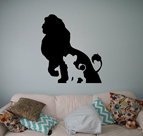 Place The Lion King Wall Vinyl Decal Disney Cartoons Wall Sticker Wall Home Interior - Kids Children Room Decor - Removable Sticker Made in USA - 12x15 Inch