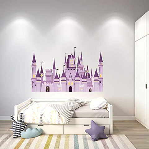 Personalized Wall Decal - Cartoon Castle Wall Sticker for Boys Girls Room - Nursery Decor Design 2