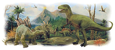 RoomMates Dinosaurs Giant Scene Peel And Stick Wall Graphic