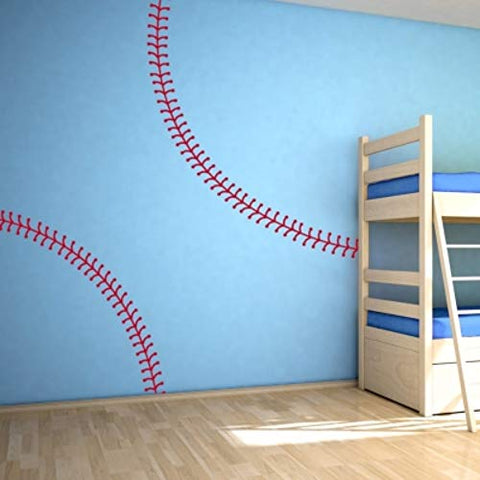 Baseball Room Decor Baseball Wall Decals Baseball Stitches Wall Decals Baseball Decals for Boys Baseball Decor for Boys Room