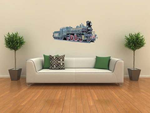 Vehicle Wall Decals - Steam Engine Train 1-12 inch Removable Graphic