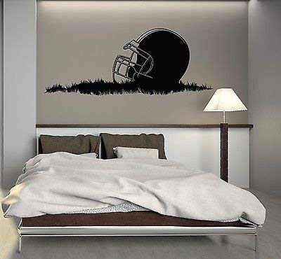 Wall Decal American Football Helmet Sport Boys Room Mural Vinyl Sticker (vs2817)