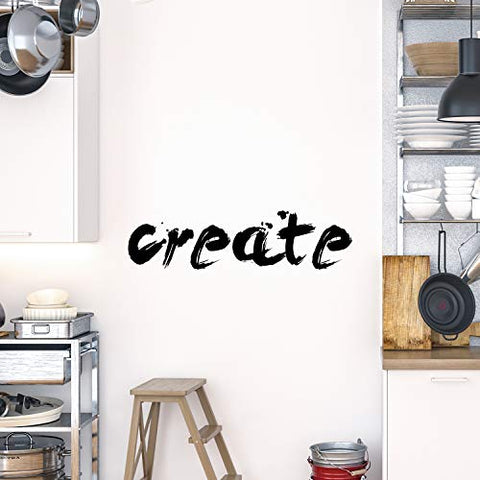 My Vinyl Story Create Inspirational Wall Decal Motivational Office Decor Quote Creative DIY Inspired Motivated Positive Wall Art Class Vinyl Sticker Wall Decal School Classroom Decor