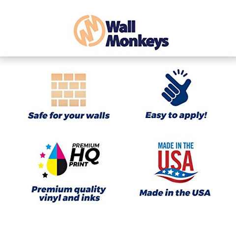 Wallmonkeys FOT-16448471-36 WM259654 Assorted Donuts on White Peel and Stick Wall Decals (36 in H x 24 in W), Large