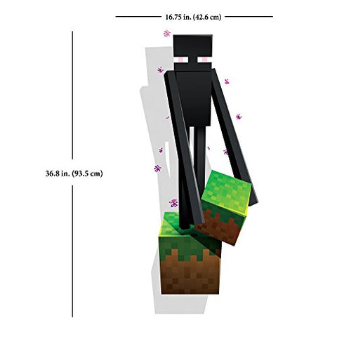 JINX Minecraft Enderman Removeable Wall Cling Decal Sticker for Kids Room