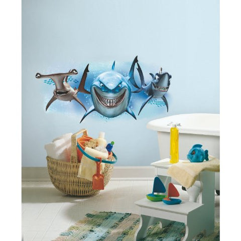 Finding Nemo Sharks Peel & Stick Giant Wall Decals, Multicolor