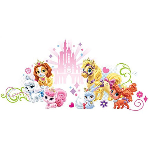 RoomMates Disney Princess Palace Pets Wall Graphic Peel and Stick Wall Decals, ,