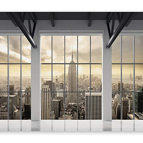 "artgeist Wall Mural New York City 96""x69"" XXL Peel and Stick Self-Adhesive Wallpaper Removable Large Sticker Foil Wall Decor Print Picture Image Design c-A-0074-a-b"