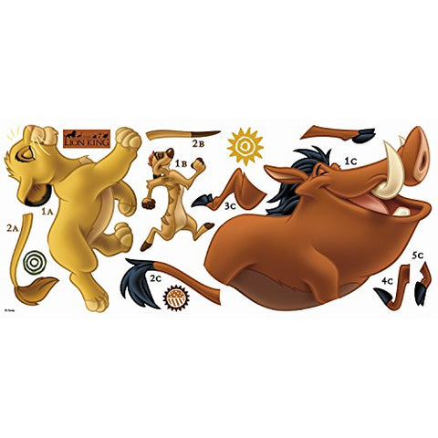 The Lion King Peel and Stick Giant Wall Decals