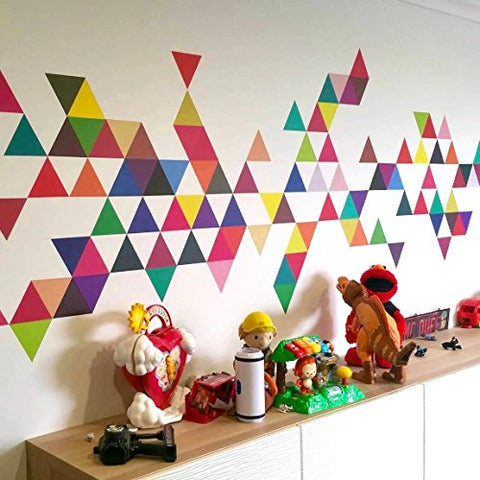 45 Mod Triangle Wall Decals Modern Art Stickers Repositionable Peel and Stick