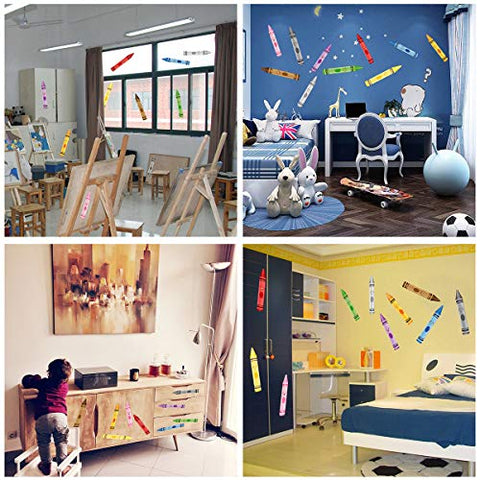 Crayon Wall Decals 10 Color Sticker for School Classroom Art Room Decoration