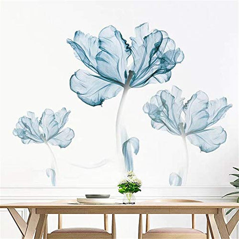 DERUN TRADING Wall Stickers & Murals Home Décor Home Décor Accents for Living Room Flower Wall Decals Home Improvement Paint Wall Treatments Wall Decals Murals Decor Vinyl Removable Mural Paper …