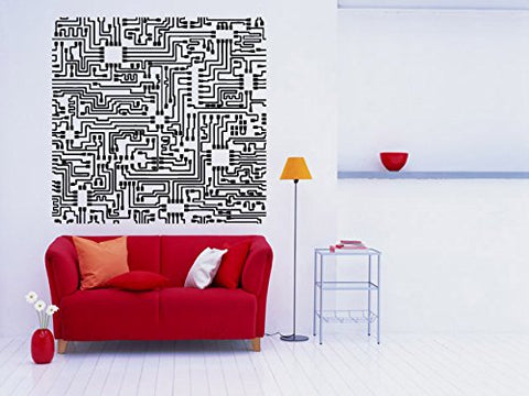 Wall Room Decor Art Vinyl Decal Sticker Electric Circuits Large Big AS504