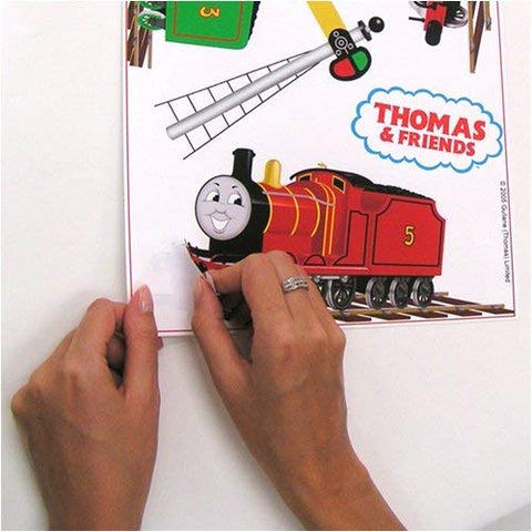 RoomMates Thomas & Friends Peel and Stick Wall Decals, Multi color