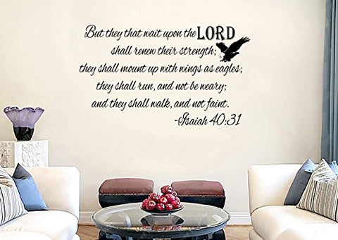 Imprinted Designs Isaiah 40:31 KJV Bible Verse Vinyl Wall Decal Sticker Art